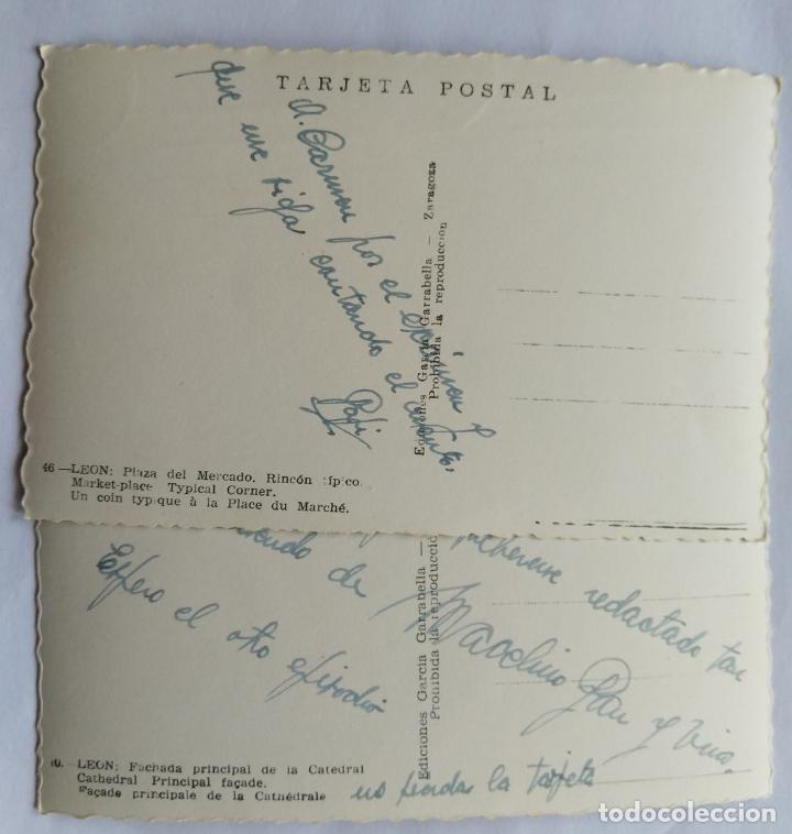Postales: LEON LOTE 2 POSTALES - Foto 2 - 236134420