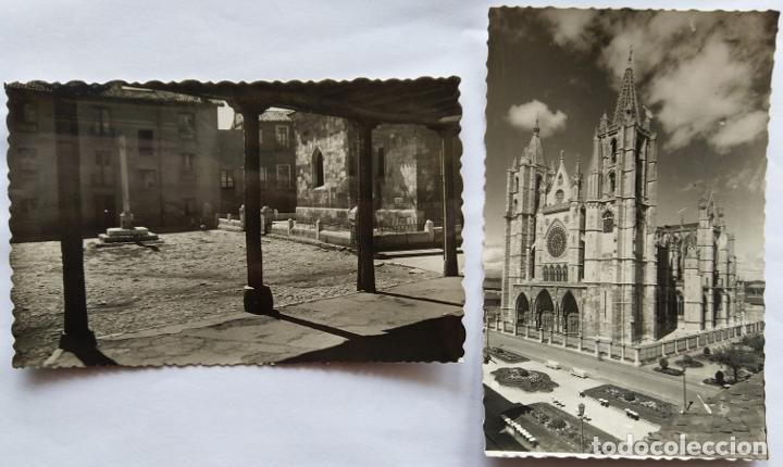 LEON LOTE 2 POSTALES (Postales - España - Castilla y León Antigua (hasta 1939))