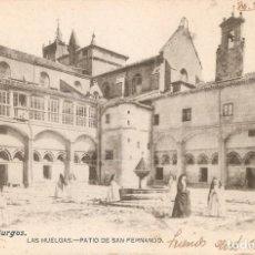 Postales: BURGOS Nº31 LAS HUELGAS PATIO SAN FERNANDO C.EN 1903. Lote 236327245
