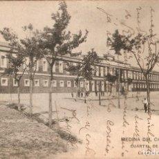 Postales: MEDINA DEL CAMPO - CUARTEL DE CABALLERIA CIR. EN 1902. Lote 239378365