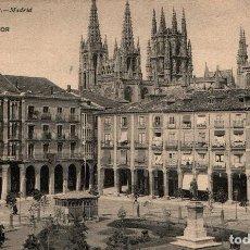 Postales: CASTILLA L BURGOS PZA MAYOR HAUSER Y MENET Nº 1406 POSTAL ANTIGUA. Lote 240730575