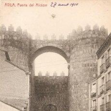 Postales: AVILA - PUERTA DEL ALCAZAR FOTOT. THOMAS C.EN 1910. Lote 243414620