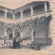 Postales: AVILA PRIMER PATIO DEL CONVENTO DE SANTO TOMÁS A CÁNOVAS FOT 781 HAUSER CIRCULADA. Lote 243769460
