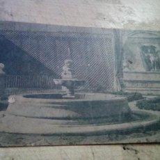 Postales: VALLADOLID.- CASA CERVANTES-JARDIN CON MONUMENTO CONMEMORATIVO FOTOTIPIA HAUSER Y MENET. Lote 243781955