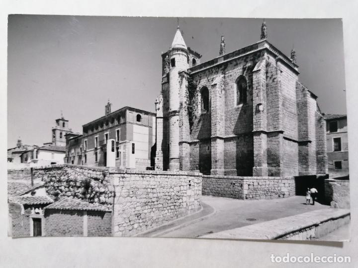 POSTAL TORDESILLAS, VALLADOLID, IGLESIA DE SAN ANTOLIN Y PALACIO, AÑO 1965 (Postales - España - Castilla y León Moderna (desde 1940))