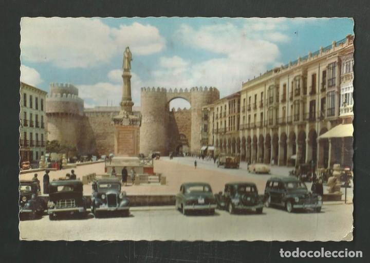 POSTAL CIN CIRCULAR - AVILA 601 - PLAZA DE SANTA TERESA - EDITA GARCIA GARRABELLA (Postales - España - Castilla y León Moderna (desde 1940))
