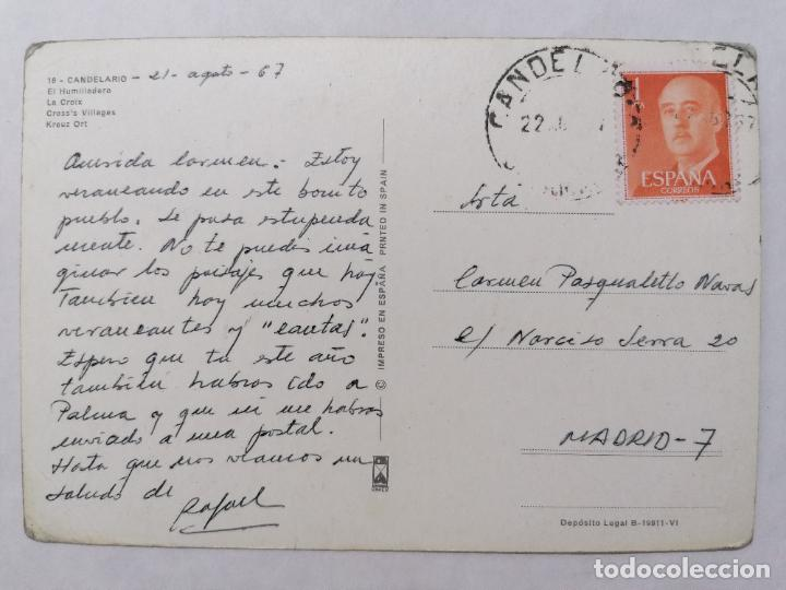 Postales: POSTAL CANDELARIO, EL HUMILLADERO, ESCRITO AÑO 1967 - Foto 2 - 244530275