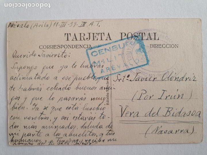 Postales: ARÉVALO - MERCADO DE GANADOS - CENSURA MILITAR - P44381 - Foto 2 - 244555215