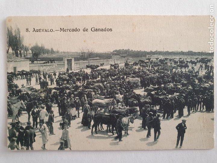 ARÉVALO - MERCADO DE GANADOS - CENSURA MILITAR - P44381 (Postales - España - Castilla y León Antigua (hasta 1939))