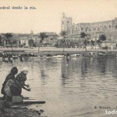 Postales: POSTAL DE PALENCIA, CATEDRAL DESDE LA RÍA. Lote 244642300
