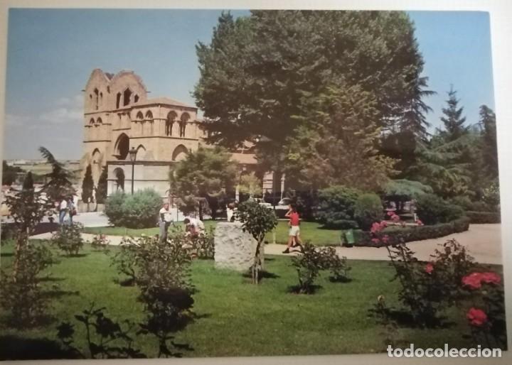 POSTAL DE ÁVILA. IGLESIA DE SAN VICENTE Y JARDINES (Postales - España - Castilla y León Moderna (desde 1940))