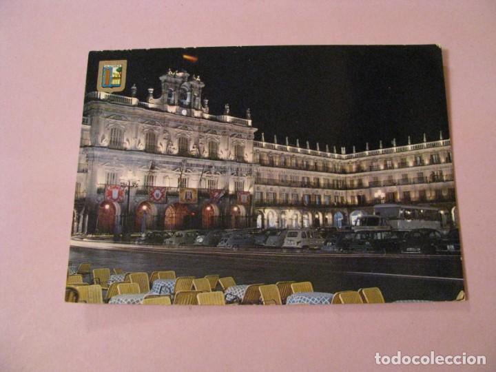 POSTAL DE SALAMANCA. PLAZA MAYOR DE NOCHE. DOMINGUEZ. (Postales - España - Castilla y León Moderna (desde 1940))