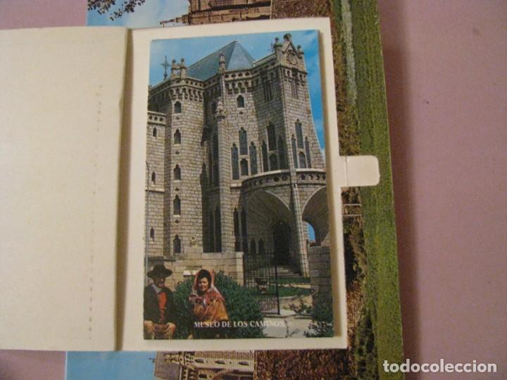 Postales: POSTAL DE ASTORGA, PALACIO GAUDI. CON COMPARTIMIENTO CON IMAGENES. ED. PARIS. - Foto 2 - 246002265