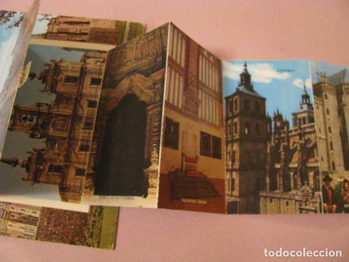 Postales: POSTAL DE ASTORGA, PALACIO GAUDI. CON COMPARTIMIENTO CON IMAGENES. ED. PARIS. - Foto 3 - 246002265
