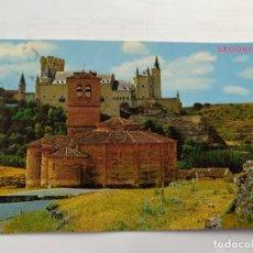 Postales: SEGOVIA - IGLESIA DE LOS TEMPLARIOS Y ALCAZAR- 1970 - PARIS Nº 598 - CIRCULADA. Lote 246009530