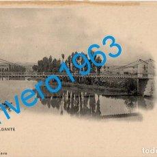 Postales: PALENCIA. DUEÑAS. PUENTE COLGANTE. Nº9. ED M. NAVA. REVERSO DIVIDIDO. SIN CIRCULAR.. Lote 246136450