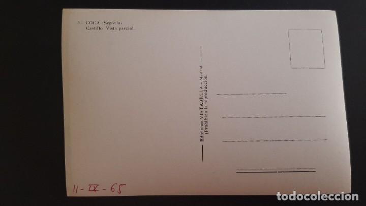 Postales: LOTE 120321 POSTAL COCA- SEGOVIA CASTILLO VISTA PARCIAL VISTABELLA - Foto 2 - 247716645