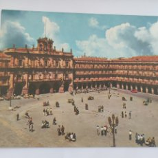 Cartoline: POSTAL 4 SALAMANCA PLAZA MAYOR 1966. Lote 247733135