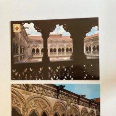 Postales: 2 POSTALES VALLADOLID COLEGIO DE SAN GREGORIO SIN CIRCULAR. Lote 249347940