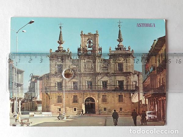 ASTORGA (LEÓN) Nº. 436, PLAZA DE ESPAÑA Y AYUNTAMIENTO. EDICIONES PARÍS. (Postales - España - Castilla y León Moderna (desde 1940))