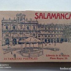Postales: SALAMANCA, BLOCK DE 24 POSTALES ANTIGUAS, 14 X 9 CMS. LIBRERIA DE ANTONIO GARCIA, MADRID. Lote 252237405