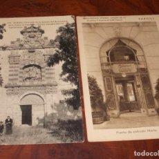Cartes Postales: DOS POSTALES BURGOS. RESTAURANTE PINEDO SALÓN TÉ PUERTA ENTRADA NORTE. IGLESIA MONASTERIO S. PEDRO C. Lote 252293210