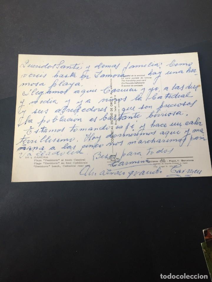 Postales: POSTAL DE ZAMORA - PLAYA BENIDORM - BONITAS VISTAS - LA DE LA FOTO VER TODAS MIS POSTALES - Foto 2 - 252747185