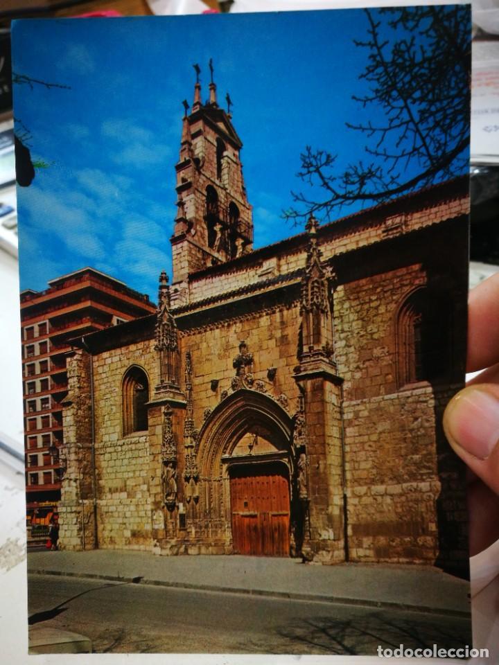 POSTAL BURGOS IGLESIA DE SAN LESMES PUERTA PRINCIPAL SIGLO CV N 83 ARRIBAS S/C ESQUINAS PELÍN TOCADA (Postales - España - Castilla y León Moderna (desde 1940))