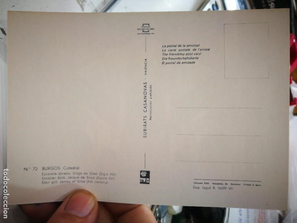 Postales: Postal BURGOS Catedral Escalera Dorada Diego de Dolor Siglo XVI N 72 SUBIRATS CASANOVAS S/C - Foto 2 - 253685475