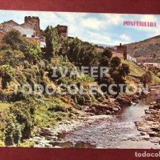 Postales: POSTAL PONFERRADA, LEON, CASTILLO Y RIO SIL, AÑO 1967. Lote 254463590