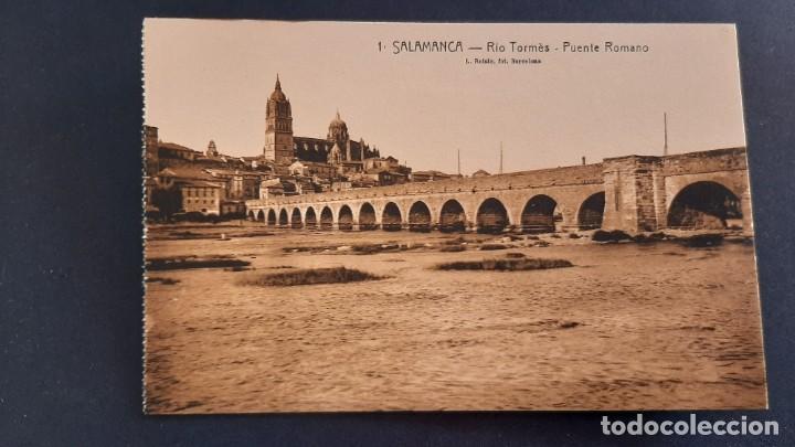 LOTE 16042021- POSTAL DE SALAMANCA, N.1 , RIO TORMES PUENTE ROMANO, ED. L. ROISIN, NO CIRCULADA (Postales - España - Castilla y León Antigua (hasta 1939))