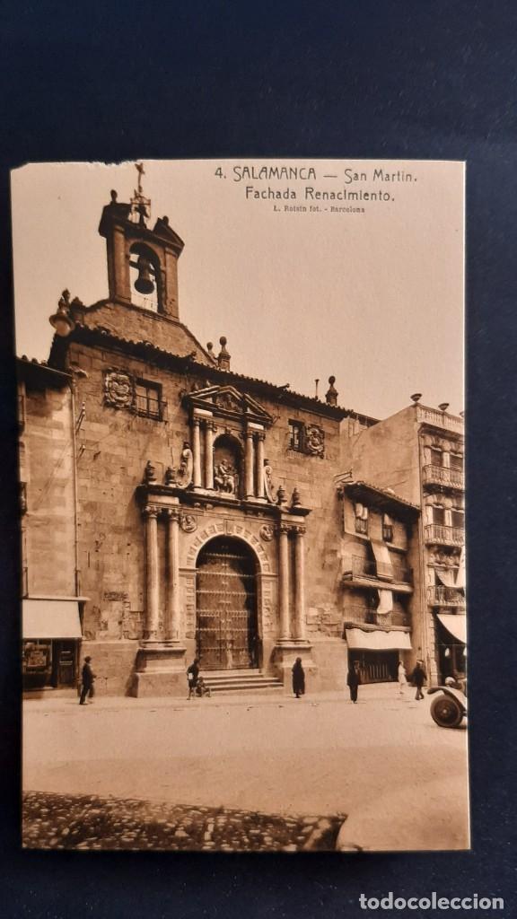 LOTE 16042021- POSTAL DE SALAMANCA, N.4 , SAN MARTIN. FACHADA DEL RENACIMIENTO ED. L. ROISIN, NO CIR (Postales - España - Castilla y León Antigua (hasta 1939))