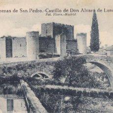 Postales: AVILA, ARENAS DE SAN PEDRO, CASTILLO ALVARO DE LUNA. ED. GRAFOS, FOTO YLLERA Nº 5. SIN CIRCULAR. Lote 257293820
