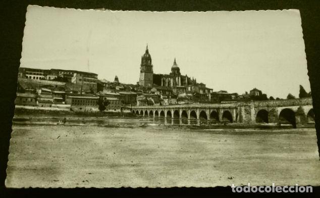 SALAMANCA (CAPITAL) PUENTE ROMANO ILUMINADO - ED. MANIPEL - AÑOS 60 - CASTILLA Y LEON (Postales - España - Castilla y León Moderna (desde 1940))