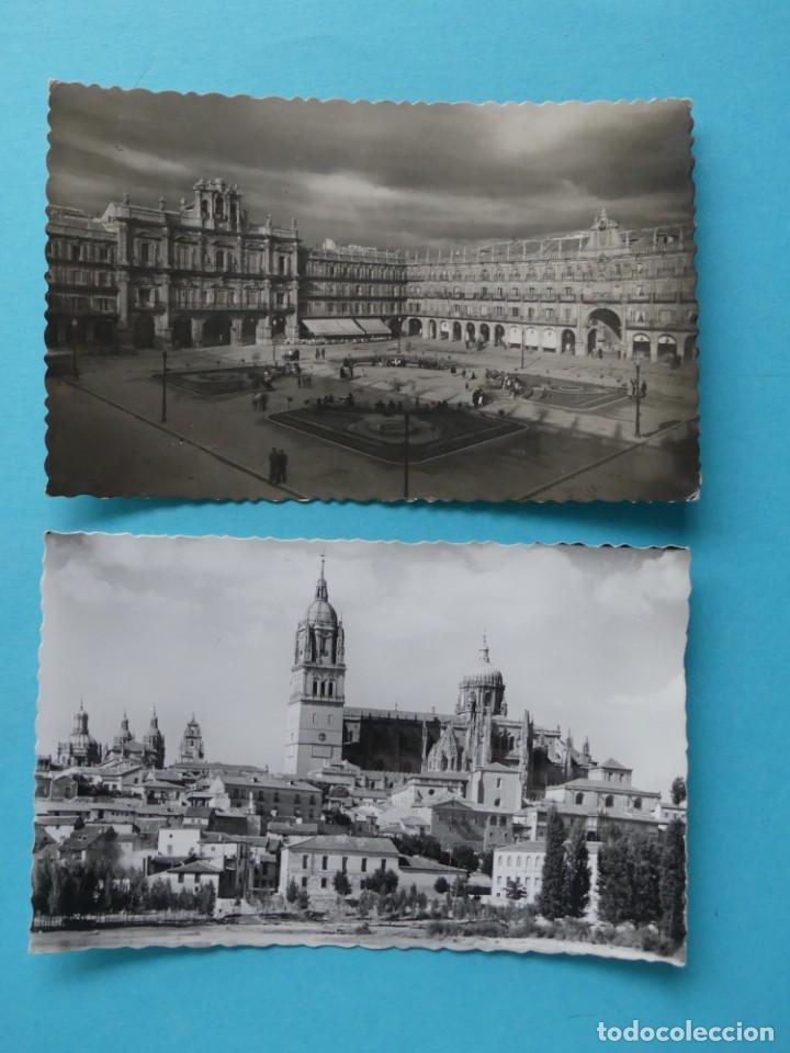 TARJETA POSTAL ANTIGUA - SALAMANCA - 2 POSTALES - PLAZA MAYOR Y CRISTO DE LOS MILAGROS - VER (Postales - España - Castilla y León Moderna (desde 1940))