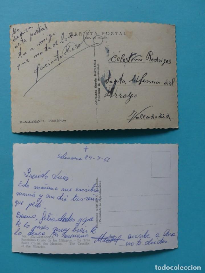 Postales: TARJETA POSTAL ANTIGUA - SALAMANCA - 2 POSTALES - PLAZA MAYOR Y CRISTO DE LOS MILAGROS - VER - Foto 2 - 257901260