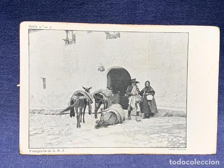 POSTAL ARRIERO MULAS FOT A.R.Z. SERIE 1ª 2 ANTIGUA ÁVILA ED ÁNGEL REDONDO ZUÑIGA THOMAS (Postales - España - Castilla y León Antigua (hasta 1939))