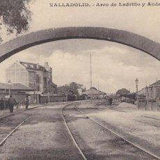 Postais: VALLADOLID, ARCO DE LADRILLO Y ANDEN DEL NORTE. ED. J.H. ESCRITA. Lote 259024975