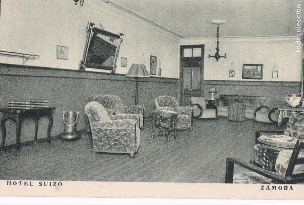 ZAMORA, HOTEL SUIZO. ED. F. MESAS, ARTE BILBAO. SIN CIRCULAR (Postales - España - Castilla y León Antigua (hasta 1939))
