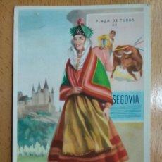 Cartoline: TARJETA POSTAL TRAJE TIPICO PLAZA DE TOROS SEGOVIA ILUSTRADOR J. BRIONES. Lote 259297855