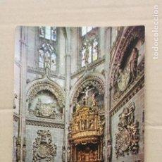 Postales: POSTAL DE LA CATEDRAL DE BURGOS Nº 39 - CAPILLA DE LOS CONDESTABLES . ALTAR MAYOR Y SEPULCRO.. Lote 261881270