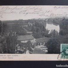 Postales: POSTAL VALLADOLID - VISTA GENERAL - CIRCULADA 1906 - HAUSER Y MENET. Lote 262304970