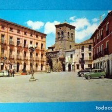 Cartes Postales: POSTAL DE CARRIÓN DE LOS CONDES (PALENCIA): PLAZA MAYOR E IGLESIA DE SANTIAGO. Lote 262308560