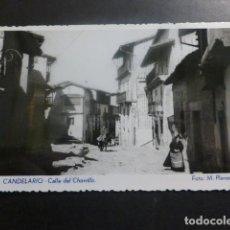 Postales: CANDELARIO SALAMANCA CALLE DEL CHORRILLO ED. FOTO M. PLANAS. Lote 263879490