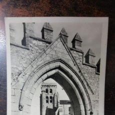 Postales: POSTAL REAL MONASTERIO DE LAS HUELGAS - BURGOS. MANIPOI RTRO. Nº 142205. CIRCULADA 14 AGOSTO DE 1956. Lote 265365724