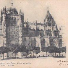 Postais: SALAMANCA CATEDRAL. ED. HAUSER Y MENET Nº 1391. REVERSO SIN DIVIDIR. CIRCULADA EN 1904. Lote 267249119