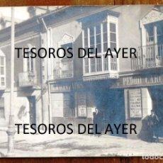 Postales: FOTO POSTAL DE BURGOS, ALMACEN DE VINOS COLONIALES DE PEDRO CARCEDO, AÑO 1921, ED. LEONAR, NO CIRCUL. Lote 268131299