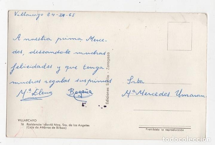 Postales: TARJETA POSTAL VILLARCAYO. Nº 16. RESIDENCIA INFANTIL NTRA. SRA. DE LOS ANGELES. EDICIONES SICILIA. - Foto 2 - 268816479