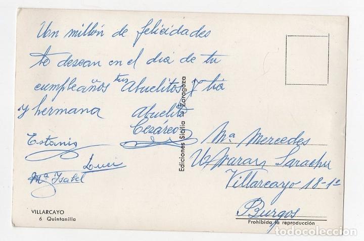 Postales: TARJETA POSTAL VILLARCAYO. Nº 6. QUINTANILLA. EDICIONES SICILIA. AÑOS 60 - Foto 2 - 268817949