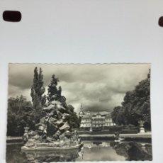Postales: POSTAL GRANJA SAN ILDEFONSO. 9 FUENTE DE FAMA Y PALACIO. H 1955. GARCÍA GARABELLA. Lote 269131628